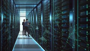2 cios standing in front of servers tackling it challenges