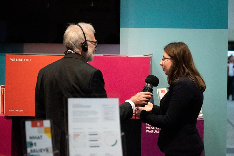 interview at userlane booth at learntec 2019