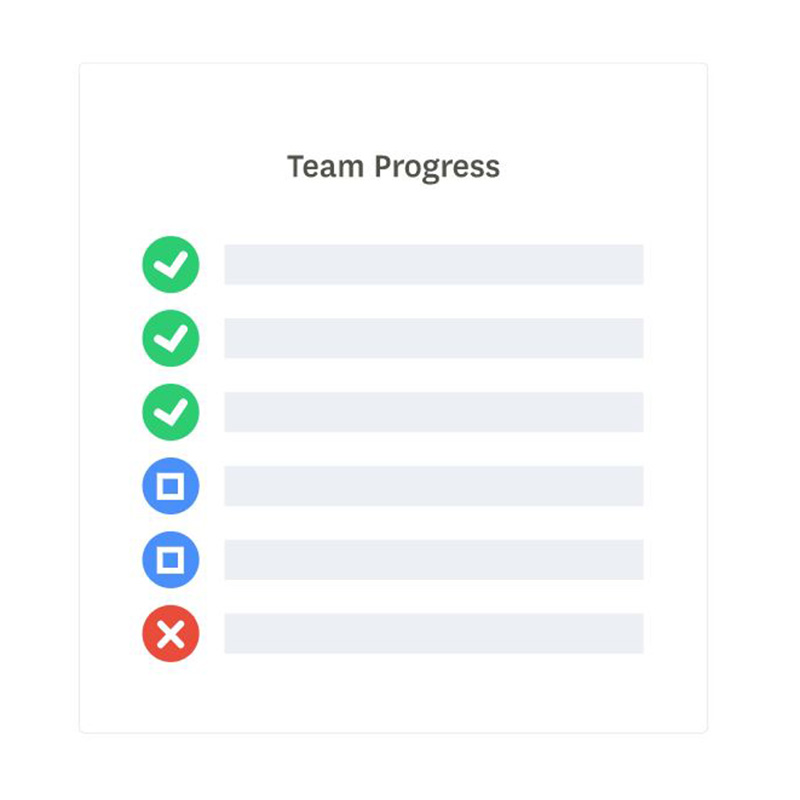 image showing progress feature or project management tool idone this