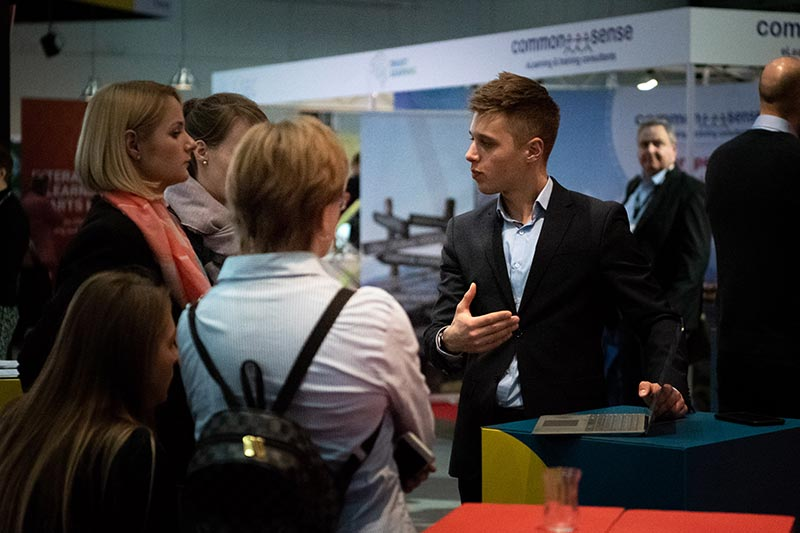 userlane greeting guests at the learntec 2019 trade fair