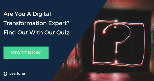 Banner with link to Userlane's Digital Transformation Expert Quiz