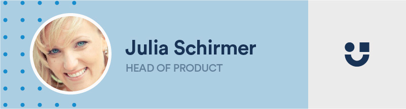 banner of julia schirmer, head of product at userlane