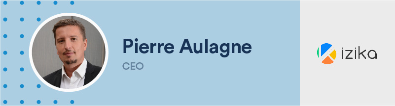banner of pierre aulaugne, ceo izika