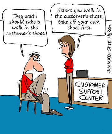 cartoon about having empathy for customers