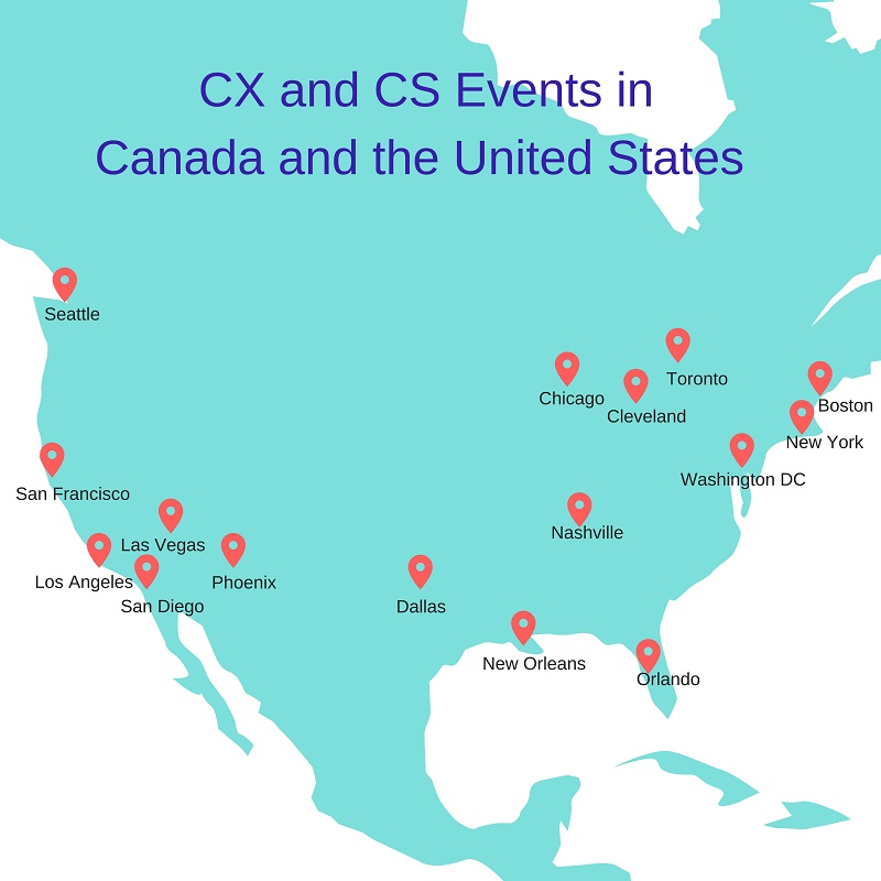 Customer success and CX conferences in Canada and the United States in 2018
