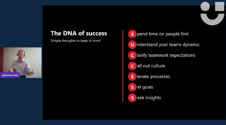 screenshot from userlane's virtual event giving advice on how to make a software rollout project a success