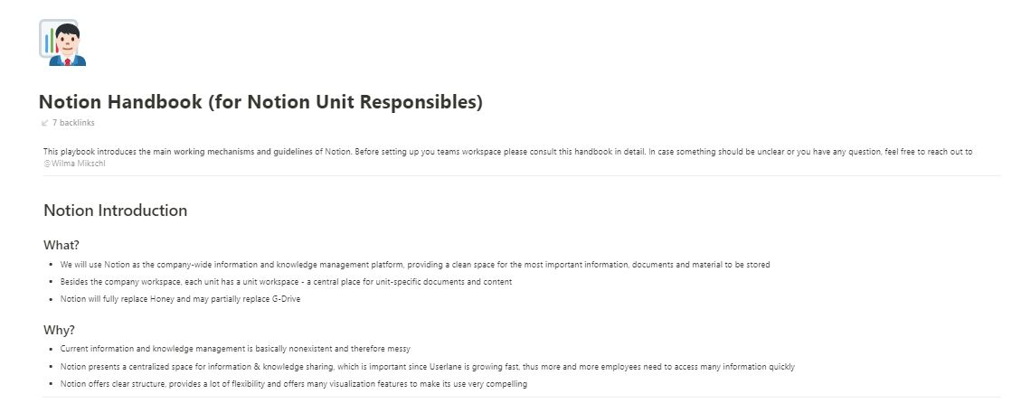 page in userlane's knowledge base describing responsibilities of those responsible for updating the knowledge base