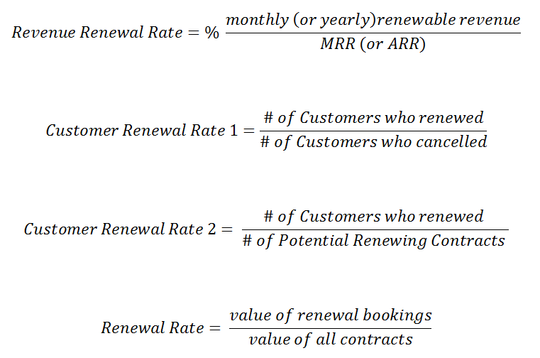 how to calculate SaaS renewal rate