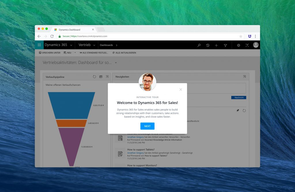 Userlane for MS Dynamics 365 for Sales