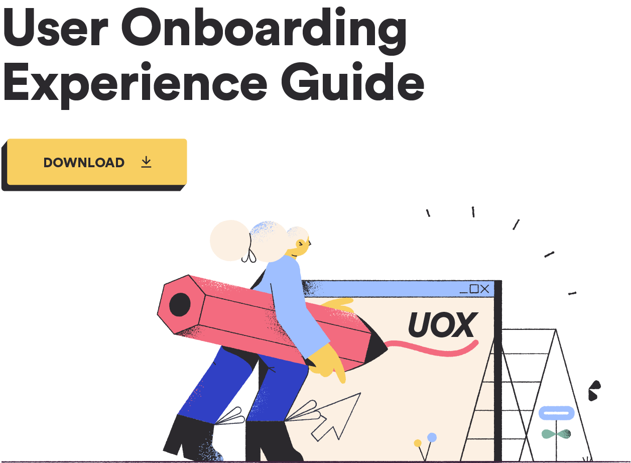 user onboarding experience guide CTA