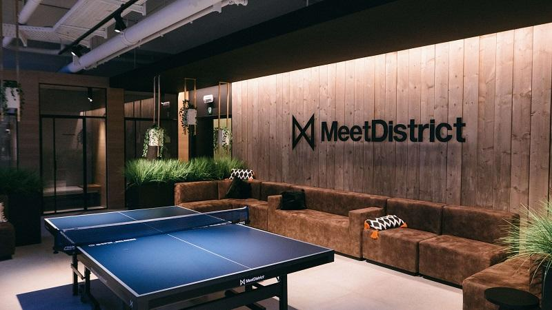 ping pong table in a modern working space