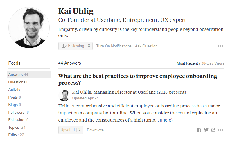 Kai Uhlig Co-founder of Userlane on Quora