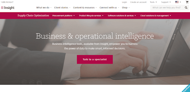 insight homepage example for product managers
