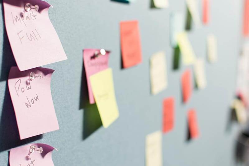 sticky notes to improve customer experience