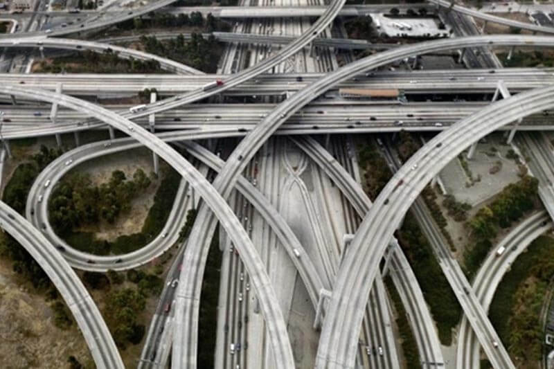 photo of flyover taken from a drone camera