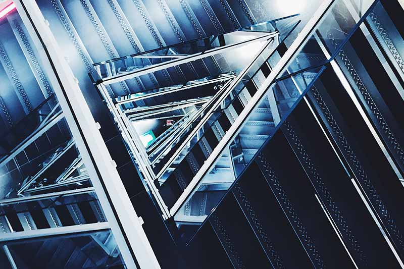 an abstract image of stairs