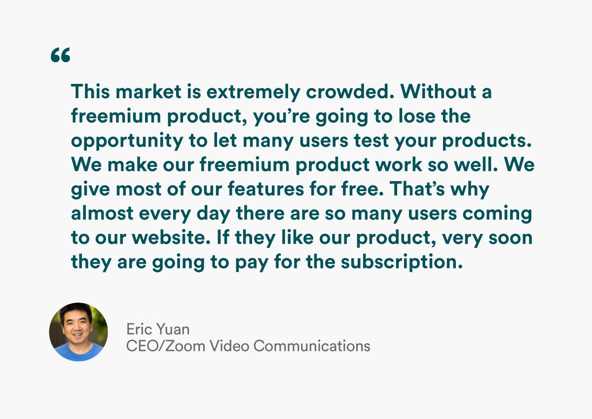 quote from ceo of zoom eric yuan