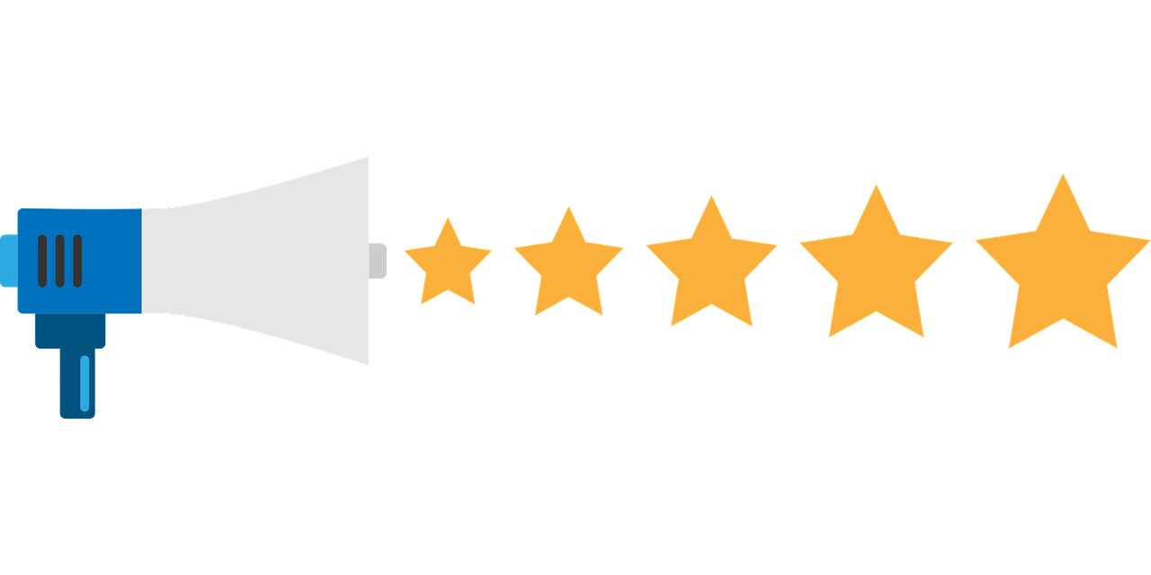 an illustration of a five-star review