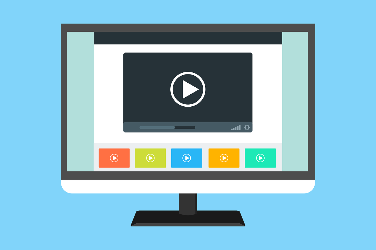 an illustration of a video player