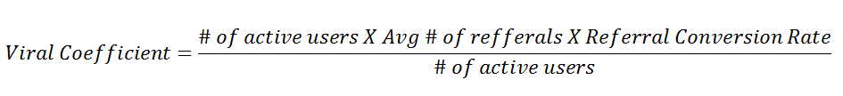 formula to calculate viral coefficient