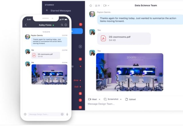 remote working software zoom for desktop and mobile